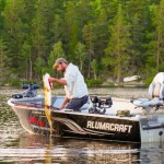 Summer pike fishing Sweden in our Alumacraft boat from WestGear AB.